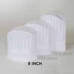 Chefwear Non-Woven Disposable Chef Hat White (10 Pack) - CW1475