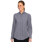 Chefworks Womens Gingham Dress Shirt Navy/White Check - W500BWK