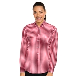 Chefworks Womens Gingham Dress Shirt White/Red Check - W500WRC