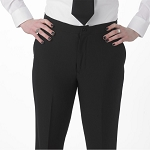 Henry Segal Womens Pleated Front Tuxedo Pant Black - 9201
