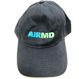 Airmd Brushed Twill Low Profile Hat w/ Logo Black - CP77_BLK