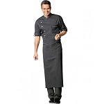 Bragard Chicago Terry Cloth Lined Collar Chef Jacket Charcoal - 2647-3421