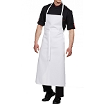 Bragard Travel Bib Chef Apron w/ No Pocket White - 3511-2903