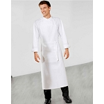 Bragard Travail Bib Apron w/ Wide Pouch Pocket White - 8988-2903