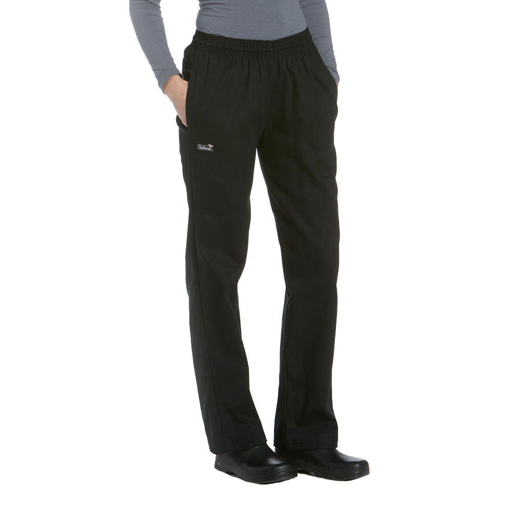 CHEF WEAR 3130 LOW RISE BOOT CUT PANT BLK//GRAY COOK RESTAURANT KITCHEN SIZE 4X
