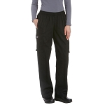 Chefwear Womens Low Rise Cotton Cargo Chef Pants Black - CW3250