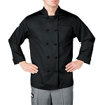 Chefwear Tall Primary Cloth Knot Button Chef Jacket - CW440T