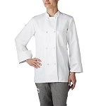 Chefwear Womens Primary Cloth Knot Button Chef Jacket White - CW4430