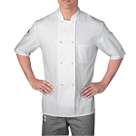 Chefwear Cloth Knot Button Chef Jacket White - CW5610