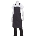 Chefworks Fine Stripe Butcher Apron w/ Contrasting Ties - AB012PNS