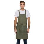 Chefworks Uptown Cross-Back Bib Apron Blue/Yellow - ABX01