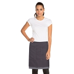 Chefworks Soho Contrast Half Bistro Apron Frost/Gray - ASCW12