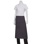 Chefworks Fine Stripe Bistro Apron w/ Contrasting Ties - AW014PNS