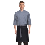 Chefworks Wide Half Bistro Apron w/ Contrast Ties - AW034