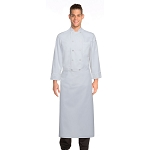 Chefworks Long 4-Way Chef Apron White - B4LG