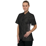 Chefworks Womens Chelsea Chef Jacket Black - CES05W