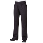 Chefworks Womens Essential Baggy Chef Pants Black - PW005