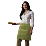 DayStar Apparel Half Bistro Apron w/ Center Divided Pocket - 110