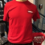 Ruth's Chris Catering Team T-Shirt w/ We Bring the SIzzle To You Logo Red