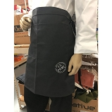 Ruth's Chris Updated Innovation Bistro Apron w/ 2 Inset Pockets & Logo Gray - R-BIS_INNO_GRY