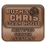 Ruth's Chris Certified Server Assistant Pin