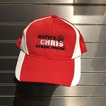 Ruth's Chris Color Block Dry Zone Two Tone Baseball Hat w/ Logo Red/White - R-STC11-Red