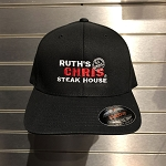 Ruth's Chris Fitted Hat w/ Logo Black - R-C813_B