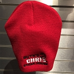Ruth's Chris Winter Knit Hat w/ Logo Red - R-W1700-R