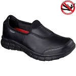 Skechers Womens Work Relaxed Fit Sure Track Shoes Black - 76536
