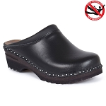 Troentorp Monet Leather Clogs Black - 830