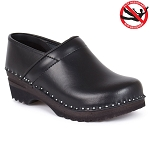 Troentorp Van Gogh Leather Clogs Black - 840