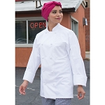 Uncommon Threads Classic Knot Cotton Chef Jacket White - UT0403C