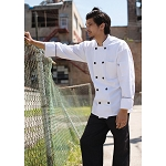 Uncommon Threads Barcelona Chef Jacket White/Black Piping - UT0408