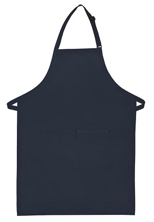 Navy Blue Bib Apron-
