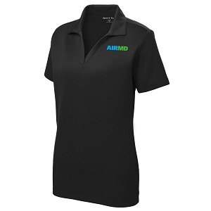 Airmd Womens PosiCharge RacerMesh Polo Shirt w/ Logo - LSST640