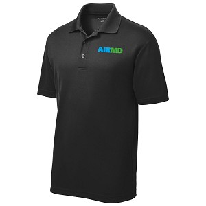 Airmd Mens PosiCharge RacerMesh Polo Shirt w/ Logo - ST640