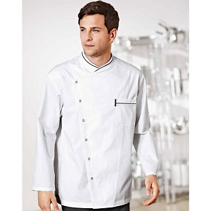 Bragard Chicago Terry Cloth Lined Collar Chef Jacket White - 2647-2566