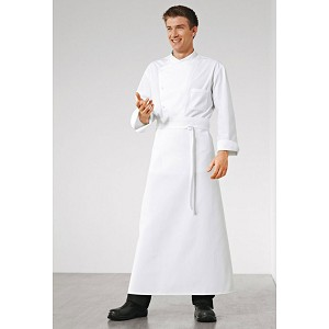 "Bragard 39"" Carpath Waist Chef Apron White - 8092-2903"