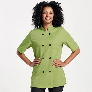 Chefwear Womens Primary Plastic Button Chef Jacket - CW4465