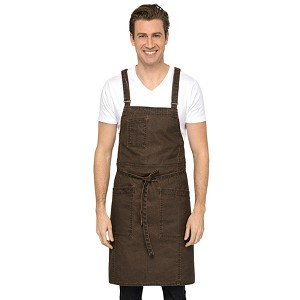 Chefworks Denver Cross-Back Bib Apron - ABX02