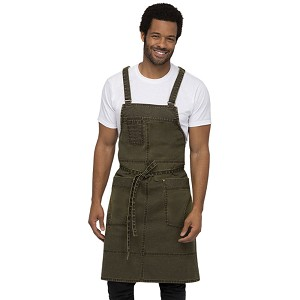 Chefworks Warren Cross-Back Bib Apron Maize - ABX04