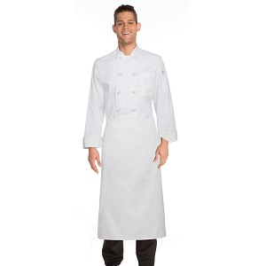 Chefworks Full-Length Chef Apron White - CFLA