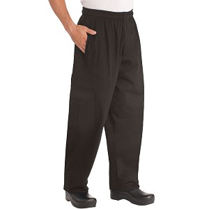 Chefworks J54 Cargo Chef Pant Black - CPBL