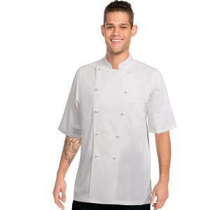 Chefworks Capri Premium Cotton Chef Jacket White - ECSS