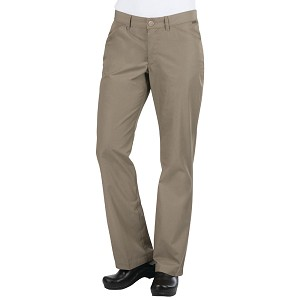 Chefworks Womens Professional Chef Pants Taupe - PEN02W