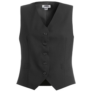 Ruth's Chris Womens High Button Vest Black - 7680-10