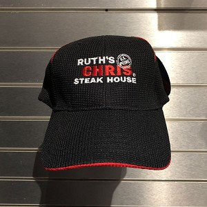 Ruth's Chris Performance Baseball Hat w/ Logo Black - R-8920_B