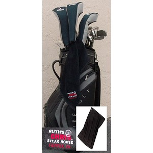 Ruth's Chris Golf Towel w/ Logo Black