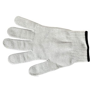 Mercer Culinary Millennia Level A5 Cut Resistant Glove Extra Large White w/ Black Cuff - M334131X