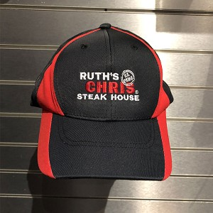 Ruth's Chris Color Block Dry Zone Two Tone Baseball Hat w/ Logo Black/Red - R-SCT11-Black